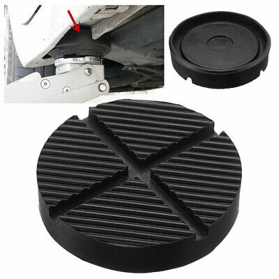 Car Cross Slotted Frame Rail Floor Jack Rubber Pad Adapter Fit For Weld 125x26mm