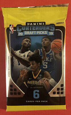 Panini 2019-2020 Contenders Draft Card Pack *Possible Zion Williamson RC*
