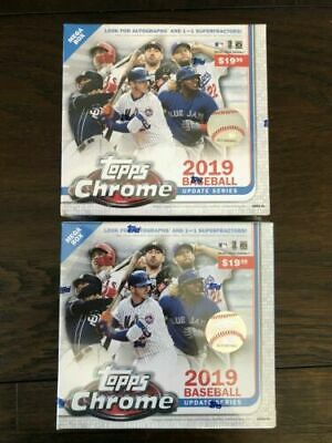 *Lot of 2*  2019 TOPPS CHROME UPDATE ~ MEGA BOX ~ FACTORY SEALED