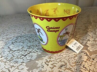 RARE NEW Curious George Tin Pail / Bucket by Schylling - Universal Studios
