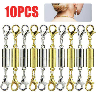 10 Silver Gold Magnetic Lobster Clasp Hook DIY Bracelet Necklace Jewelry Parts