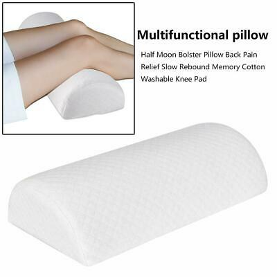 Half Moon Bolster Semi-Roll Pillow Ankle Support Lumbar Neck Pain Relief Pads A8