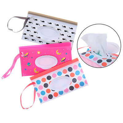 Portable Wipes Carrying Case Bag Pouch Convenient Cosmetic Clean Wet Wipe BagsUK