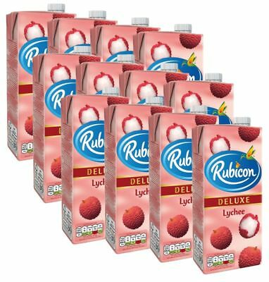 (2,66€/1l) [12x1L] RUBICON Lychee Fruit Drink / Litschi Fruchtsaftgetränk DELUXE