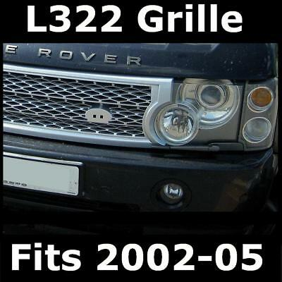Silver SUPERCHARGED grille upgrade kit for Range Rover L322 2002-2005 Vogue HSE
