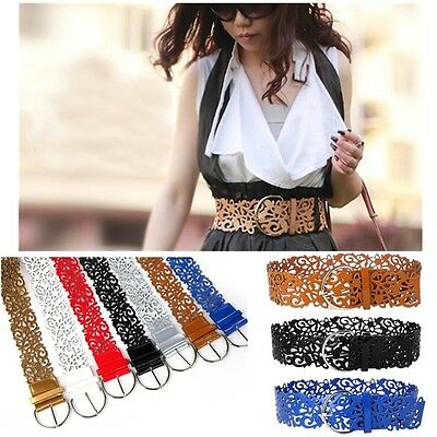 Womens Waist Belt Ladies Wide Band Pin Buckle Waistband for Jeans/Dress Party