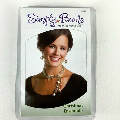 Simply Beads Christmas Ensemble Kit of the Month Necklace Earrings To Make