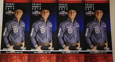 (4) National Finals Rodeo Tickets NFR Low Balcony Fri Dec 13th 12/13/2019 Aisle