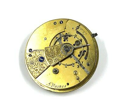 Rare Antique Fusee Chain Driven Keywind Barrel Watch Movement For Parts/Repair