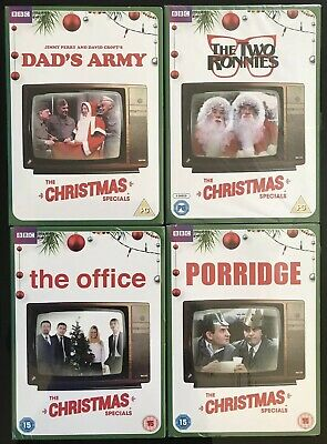 BBC Christmas DVD Bundle. 4 Sets, New/sealed. Office/Two Ronnies/Porridge/Dad's