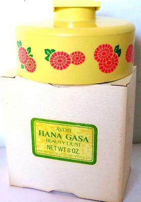 Avon HANA GAZA BEAUTY DUST POWDER BOX Vintage Plastic Collectible 1970