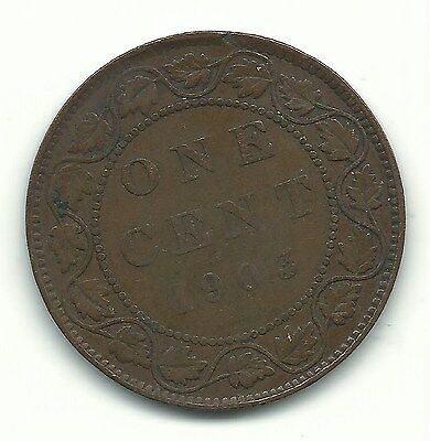 A Very Nice Vintage 1903 Canadian Canada Large One Cent-Sep625