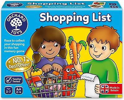 Orchard Toys Shopping List  Kids Childrens British made Game 3 - 7 Years