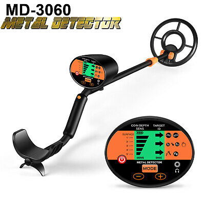 Waterproof LCD Metal Detector Gold Digger Deep Sensitive Hunter Search Coil
