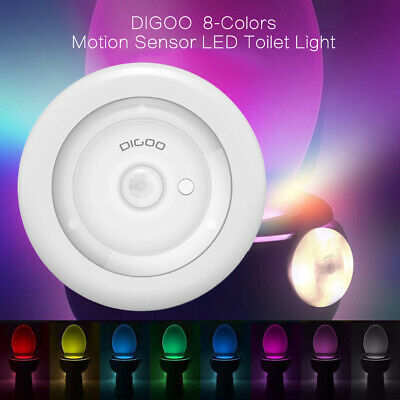 Digoo LED Toilet Bathroom Night Light PIR Motion Activated Seat Sensor 8-Color