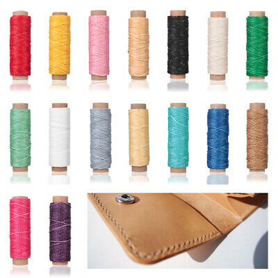 30m/roll Waxed Thread Cotton Cord String Strap for Leather Handicraft Tool~