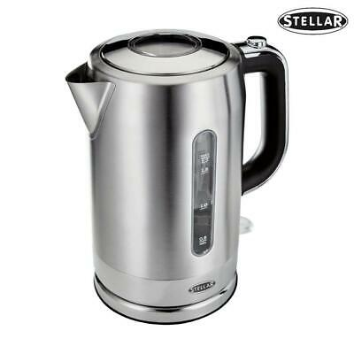 Stellar Cordless Kettle Stainless Steel 1.7L | Fast Boiling | Energy Efficient