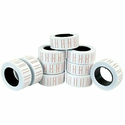Label Price Rolls Tag Red & White Lined Pricing Tags for Pricing Gun MX5500