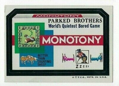 1974 Topps Wacky Packages 6th Series 6 MONOTONY BORED GAME nm-