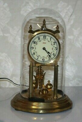 Vintage KUNDO West Germany Brass Anniversary Clock for Parts Not Working #1