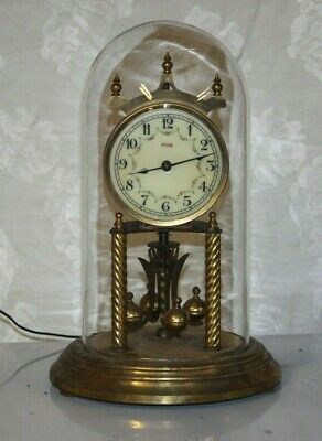 Vintage KUNDO West Germany Brass Anniversary Clock for Parts Not Working #2