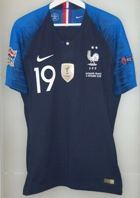 Match worn shirt France national team Nations league vs Germany WC 2018 jersey