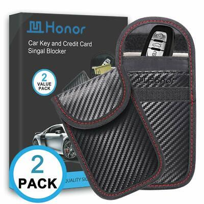 2 Pack Car Keys Signal Blocker Case Pouch Keyless Protection Security RFID Wifi