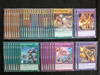 Yu-Gi-Oh 44 Card Metalfoes / Igknight Deck  *Ready To Play* Preowned