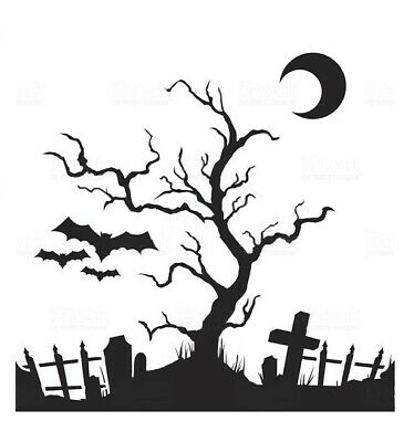 high detail airbrush stencil cemetery 3 FREE UK POSTAGE