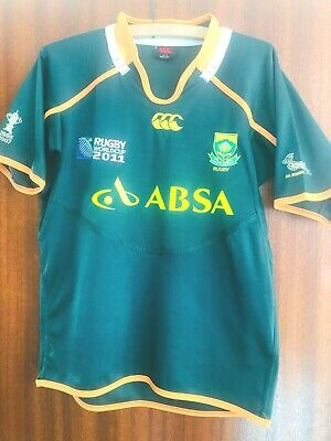 South Africa Rugby Shirt (Small Mans) Canterbury World Cup 2011