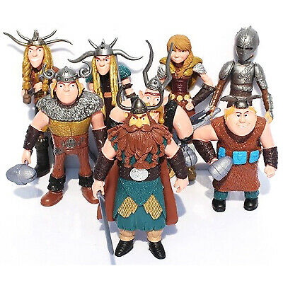 8 pcs How to Train Your Dragon Action Figures Hiccup Stoick Astrid Xmas Toys Set