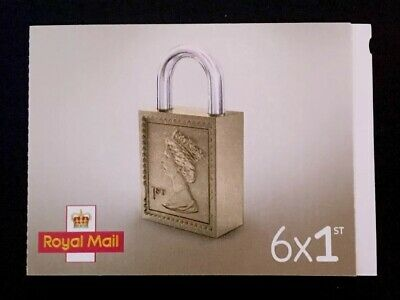 6x Royal Mail 1st First Class Stamps New In Book Letter Size BNIP