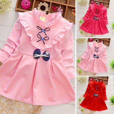 Baby Girls Dress Toddler Kids Tulle Skirt Christmas Clothes Party Outfit Gift