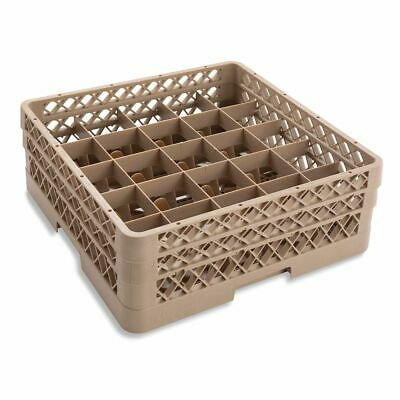 Traex TR6BA Beige 25 Compartment Glass Rack with 2 Extenders