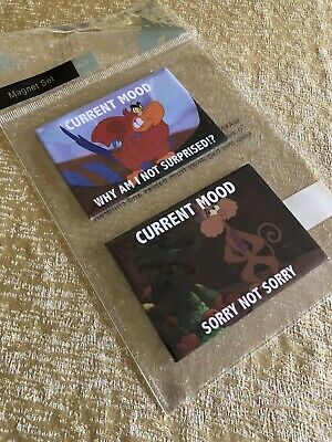 Disney Parks Current Mood Magnet Set Aladdin Lago & Abu