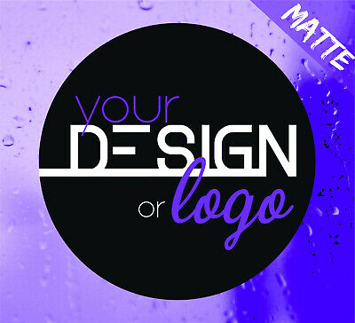 Printed Round Stickers Custom Logo labels postage labels Personalised Art Text M