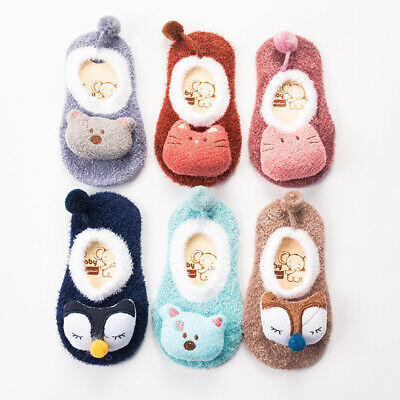 Newborn Baby Kids Floor Socks Toddler Anti Slip Shoes Cartoon Slipper Boots