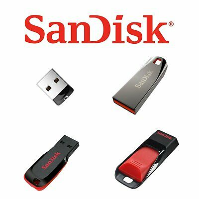 Sandisk 8/16/32/64GB GB USB 2.0 Flash Stick Pen Drive