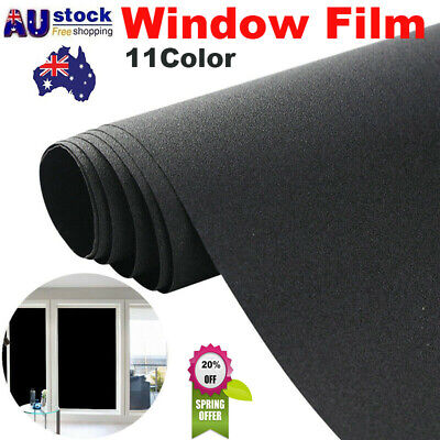 45*200CM Static Cling Frosted Flower Door Window Glass Film Sticker Privacy AU
