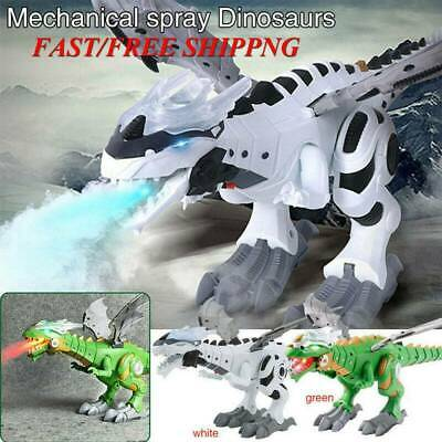 Kids Christmas Gift Walking Dragon Toy Fire Breathing Water Dinosaur Toy Sp P6N4