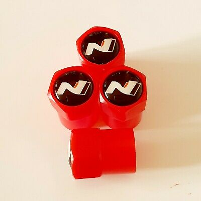 Hyundai N LOGO line Plastic Wheel Valve Dust caps all models Red 7 Colors i30N