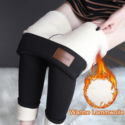 Women Fleece Thermal Winter Warm Lined Thick Full Length Stretchy Pencil Legging