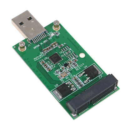 1Pc Mini USB 3.0 to PCIE mSATA External SSD PCBA Conveter Adapter CardEF