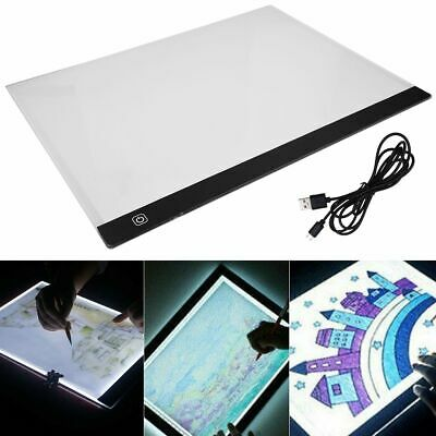 A3 LED Copy Light Box Tracing Drawing Board Art Design Pad Slim Lightbox USB