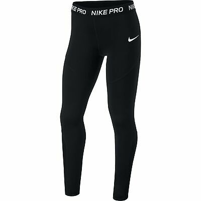 Nike Pro Kinder Trainings Tight Leggings Mädchen Leggins Fitness schwarz AQ9042