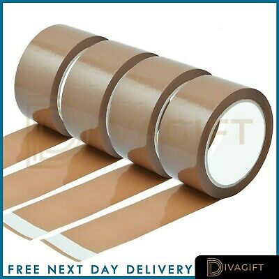 PACKING TAPE BROWN 6x STRONG LONG LENGTH EASY PARCEL BOXING SEALING  48mm x 66m