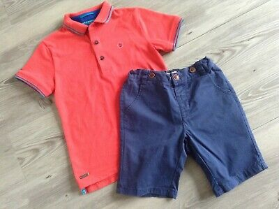 (B11) Next Ted Baker Boys Small Bundle / Outfit Shorts Designer Top 5-6Yrs