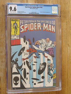 Peter Parker The Spectacular Spider Man  # 100 Us Marvel 1985  Nm+ 9.6 Cgc