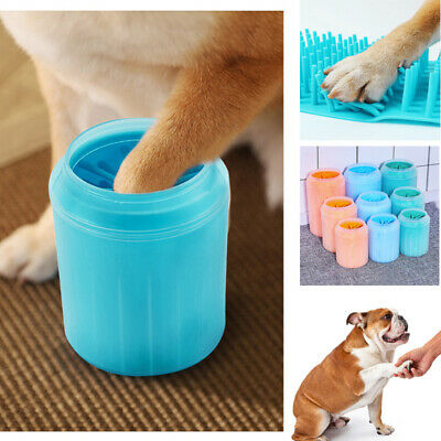 Portable Dog Cat Paw Cleaner Soft Silicone Pet Cleaning Brush Cup Feet Washer UK