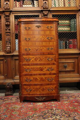 Secretaire in Wood of Rose/Interior in oak/Inlaid / First half of 900